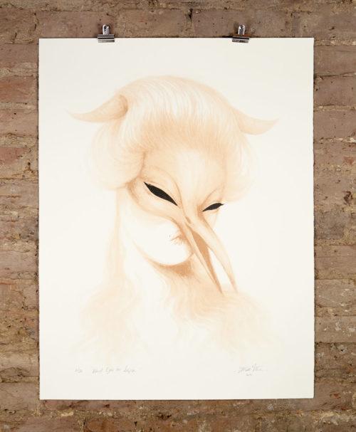 Black-Eyes-On-Sepia - Silkscreen print by Miss Van