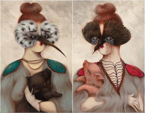 'Palomita' set of 2 prints