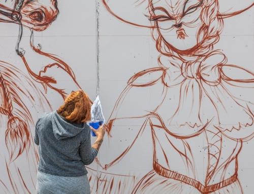"""Gypsy With Stallions""   Coney Art Walls   NYC"