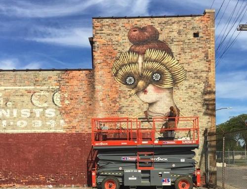 Starting my mural in Detroit