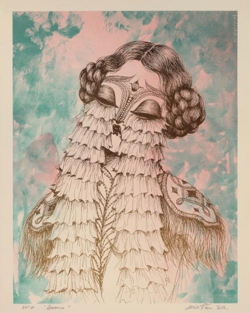 Llorona - Silkscreen print by Miss Van