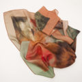 'Retrato Floral' Silk Scarf