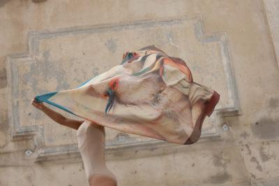 'Two Muses' Silk Scarf by Miss Van
